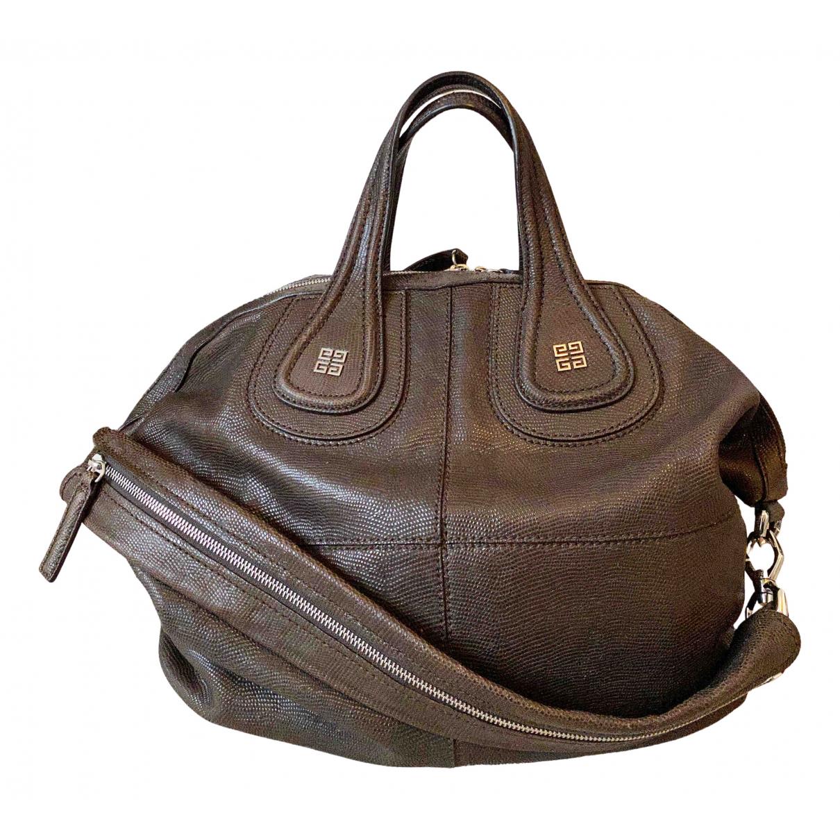 Givenchy - Sac a main Nightingale pour femme en cuir - marron
