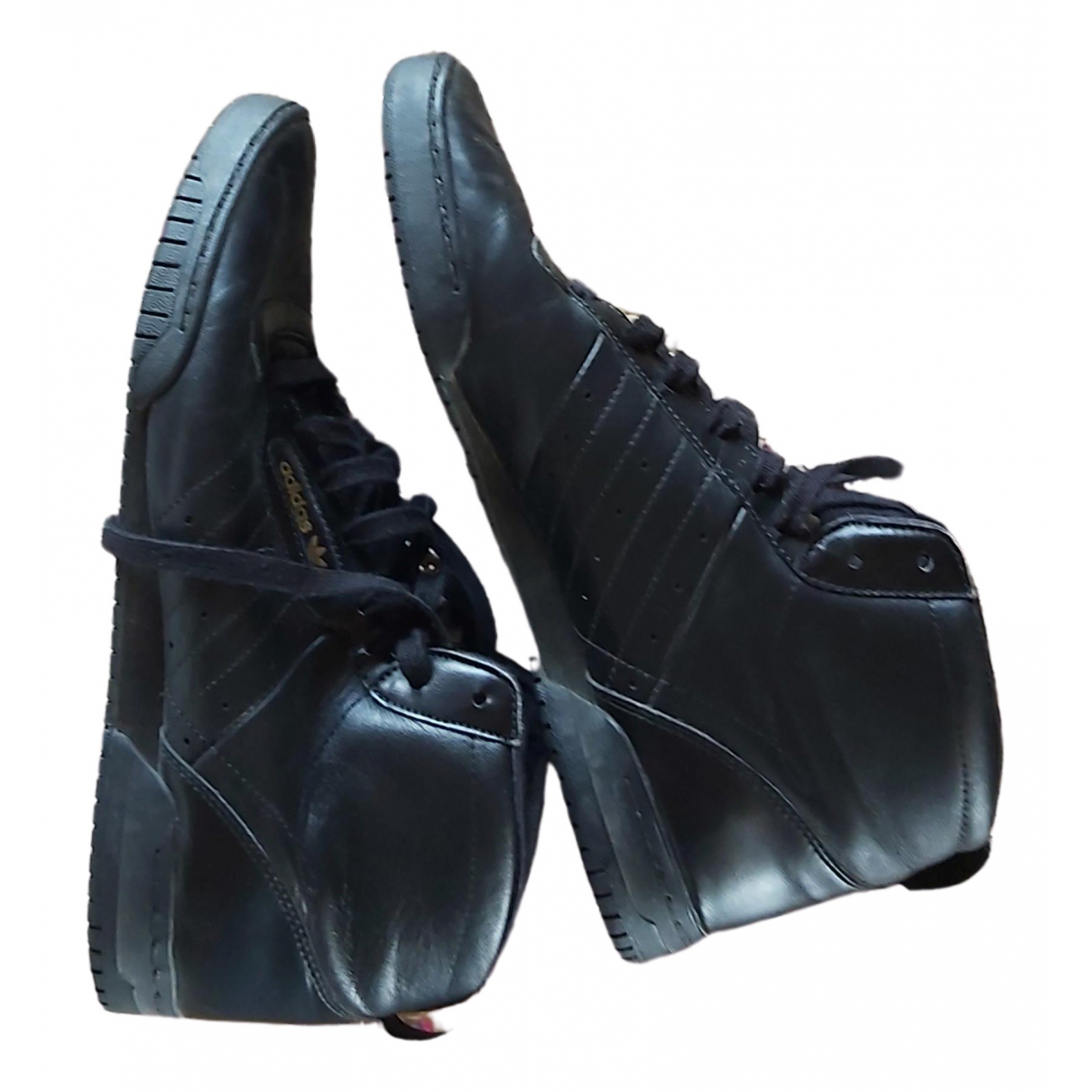 Adidas \N Black Leather Trainers for Women 42 EU