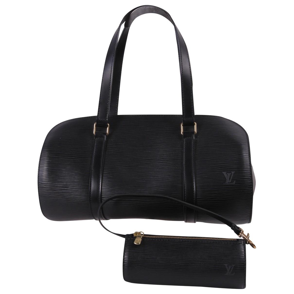Louis Vuitton Soufflot Handtasche in  Schwarz Leder