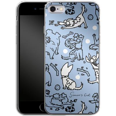 Apple iPhone 6 Silikon Handyhuelle - Happy Dogs Pattern von Simons Cat