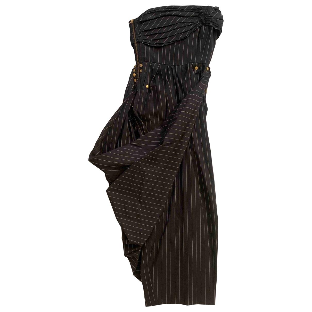 Jean Paul Gaultier \N Kleid in  Anthrazit Baumwolle