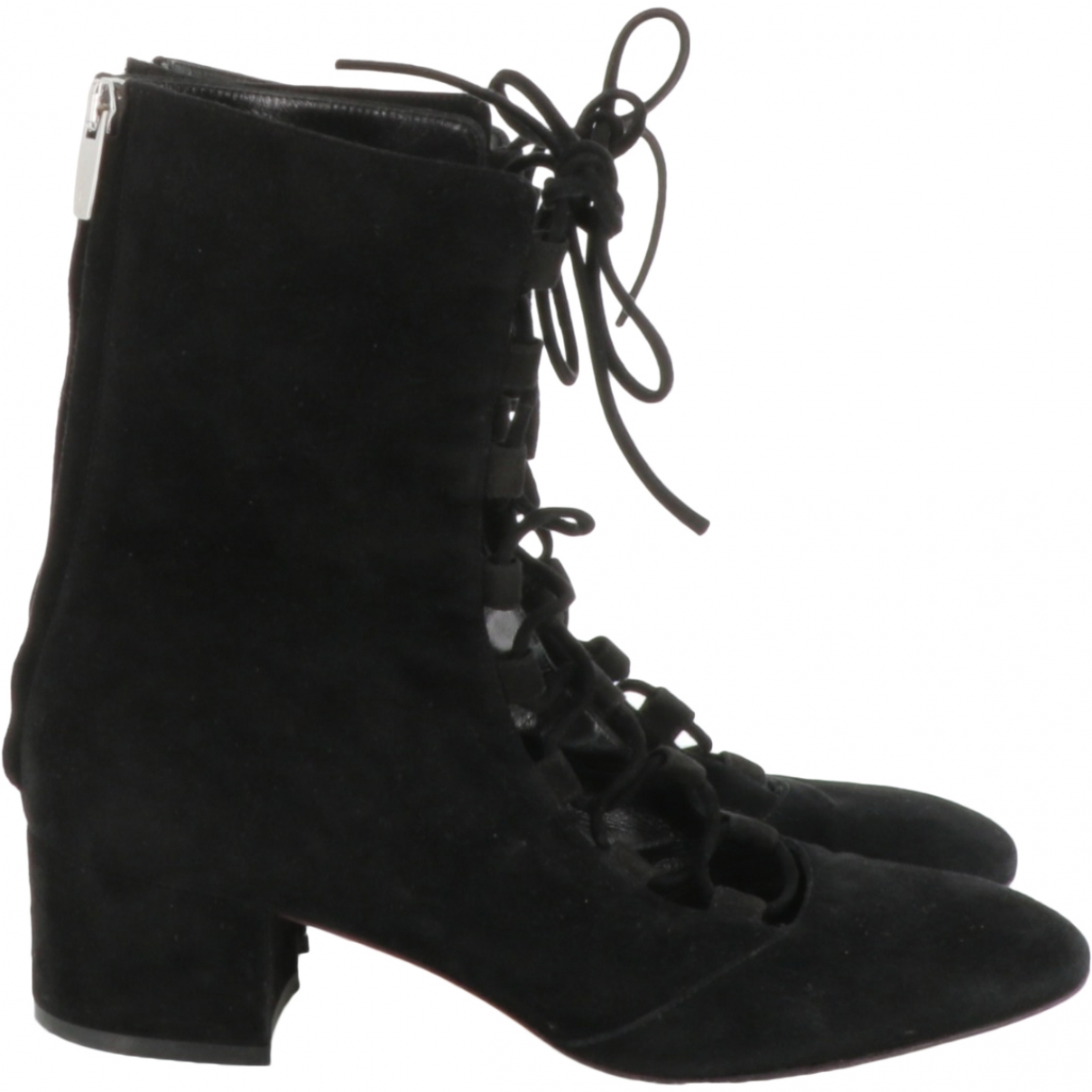 Gianvito Rossi \N Black Suede Ankle boots for Women 39 EU