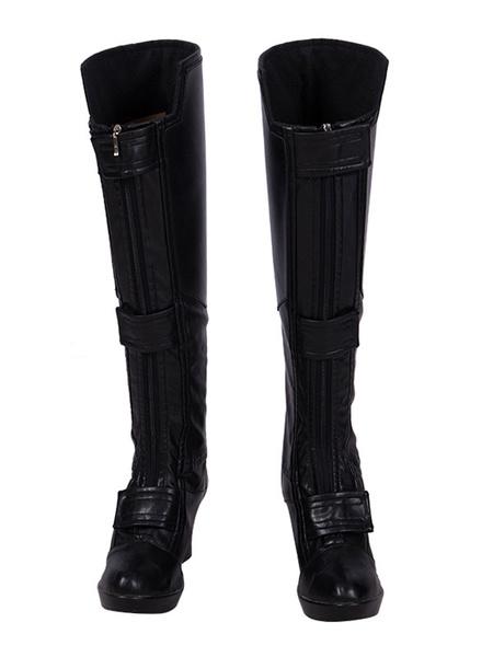 Milanoo Marvel Film Cosplay Avengers 4 Endgame Black Widow Natasha Romanoff Cosplay Boots Halloween