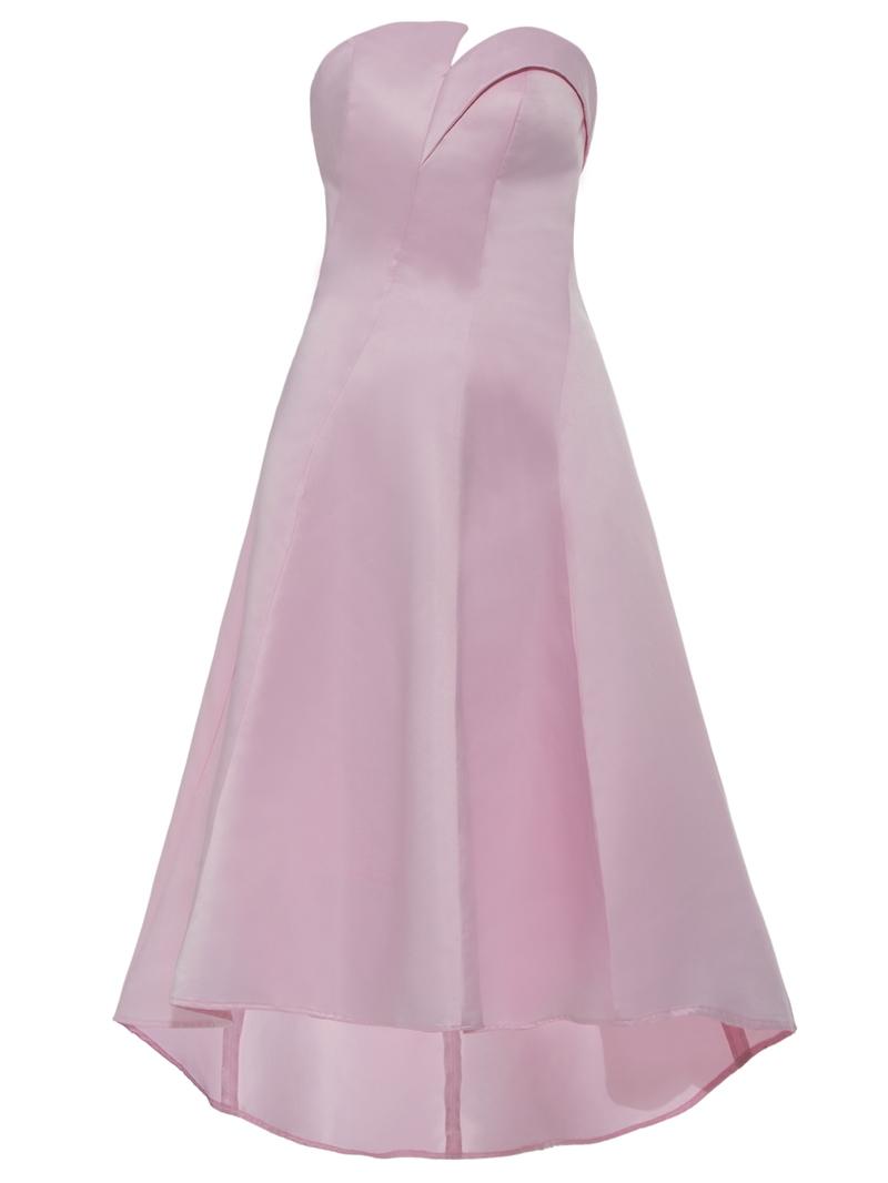 Ericdress Strapless Zipper-Up A Line Homecoming Dress