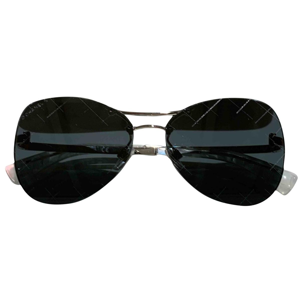 Chanel \N Silver Metal Sunglasses for Women \N