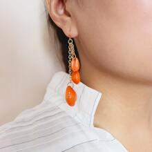 Ohrringe mit Schale Anhaenger
