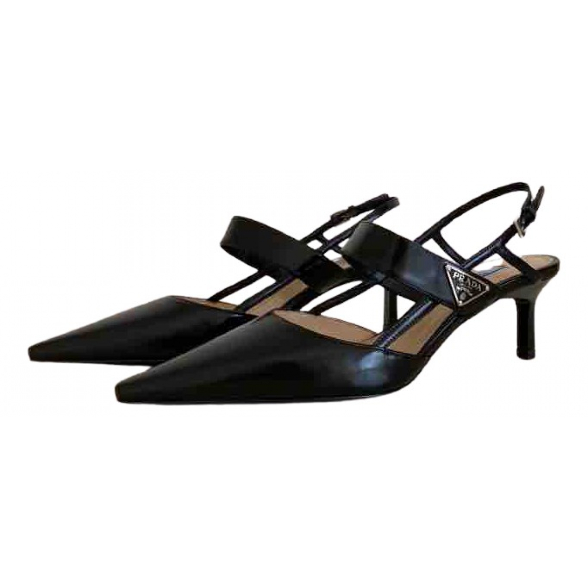 Prada - Escarpins   pour femme en cuir - noir