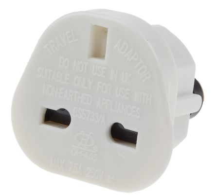 RS PRO UK to USA/Aus mains adaptor converter