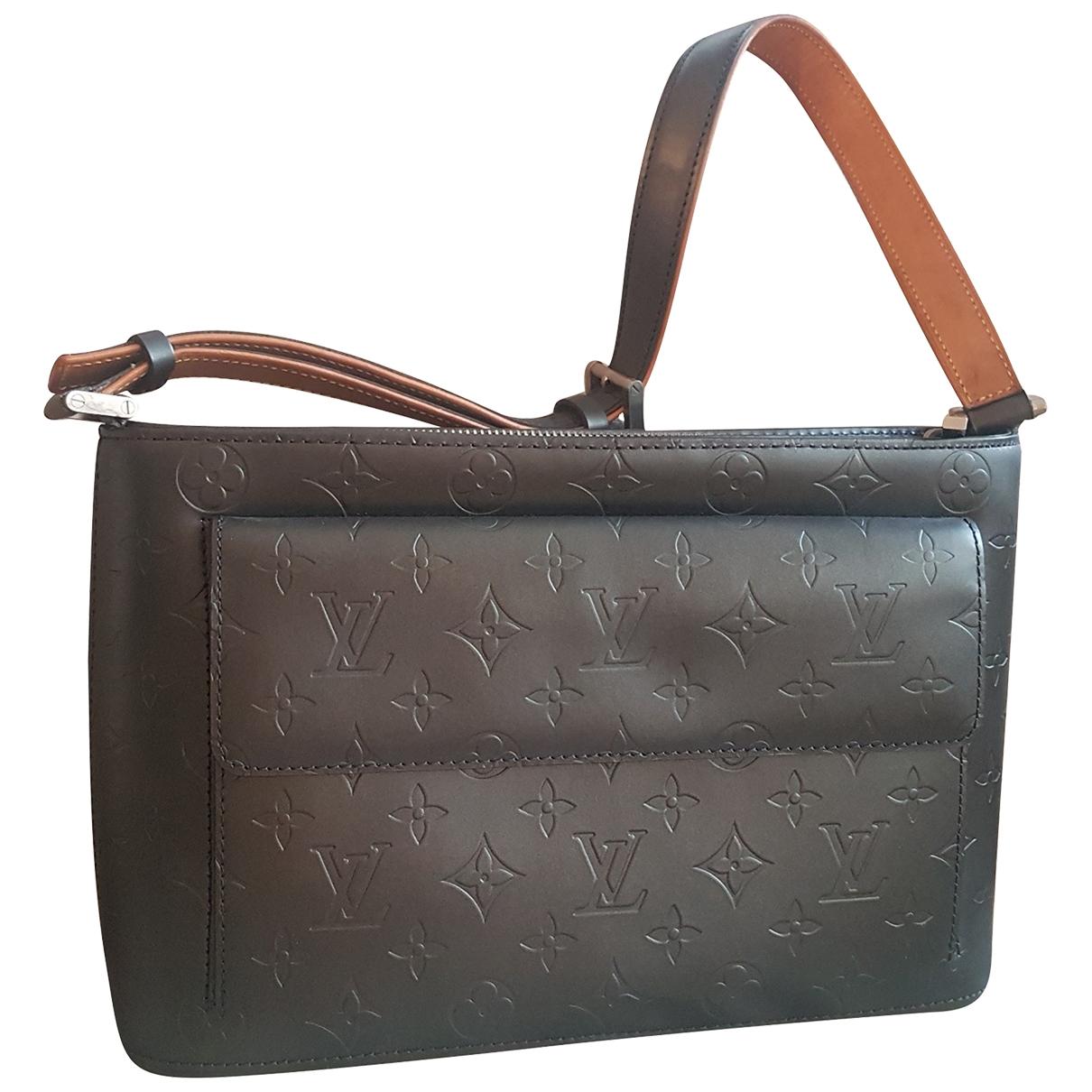 Louis Vuitton - Sac a main Allston pour femme en cuir - gris