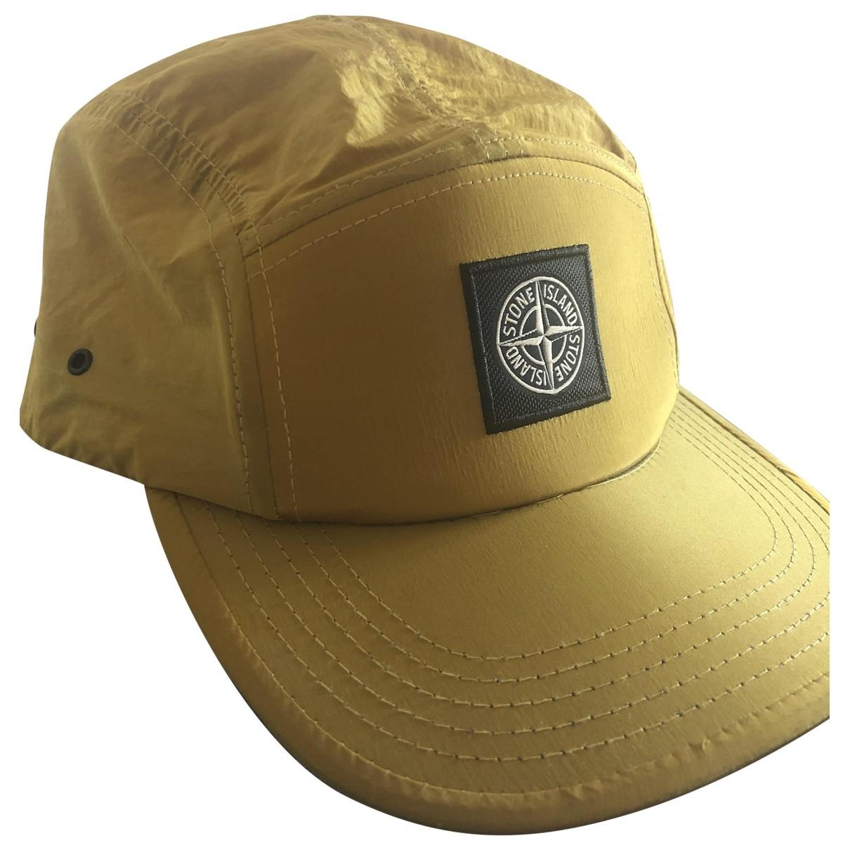 Stone Island - Chapeau & Bonnets   pour homme en cachemire - jaune