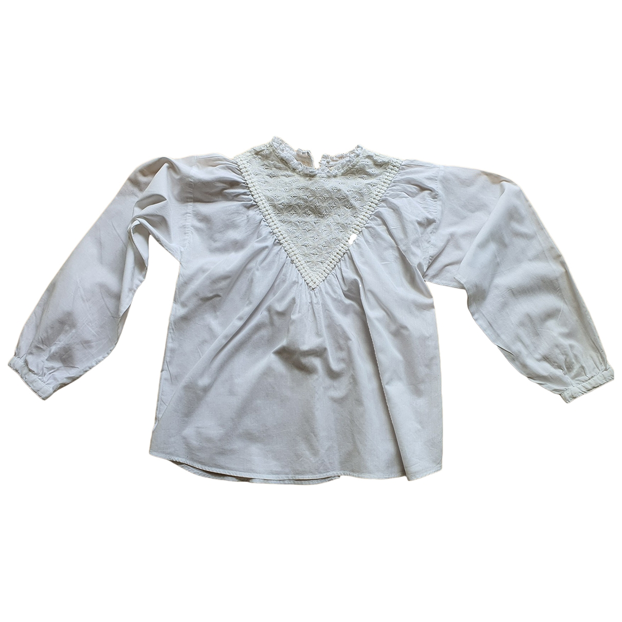 Zara \N White Cotton  top for Kids 10 years - up to 142cm FR