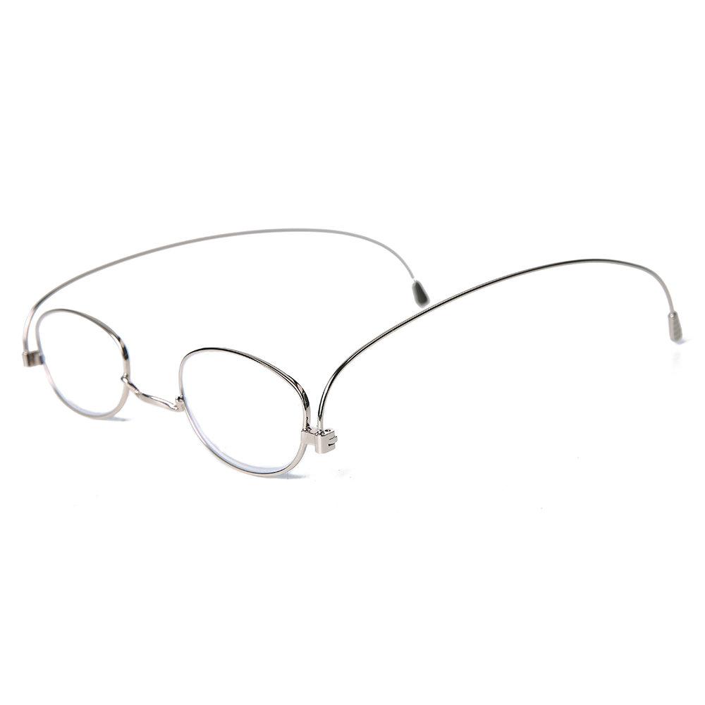 Women Men Full Frame Metal Legs Foldable Anti-blue Light Comfortable Reading Glasses