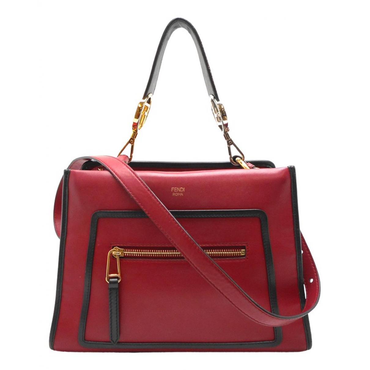 Fendi Runaway Red Leather handbag for Women N
