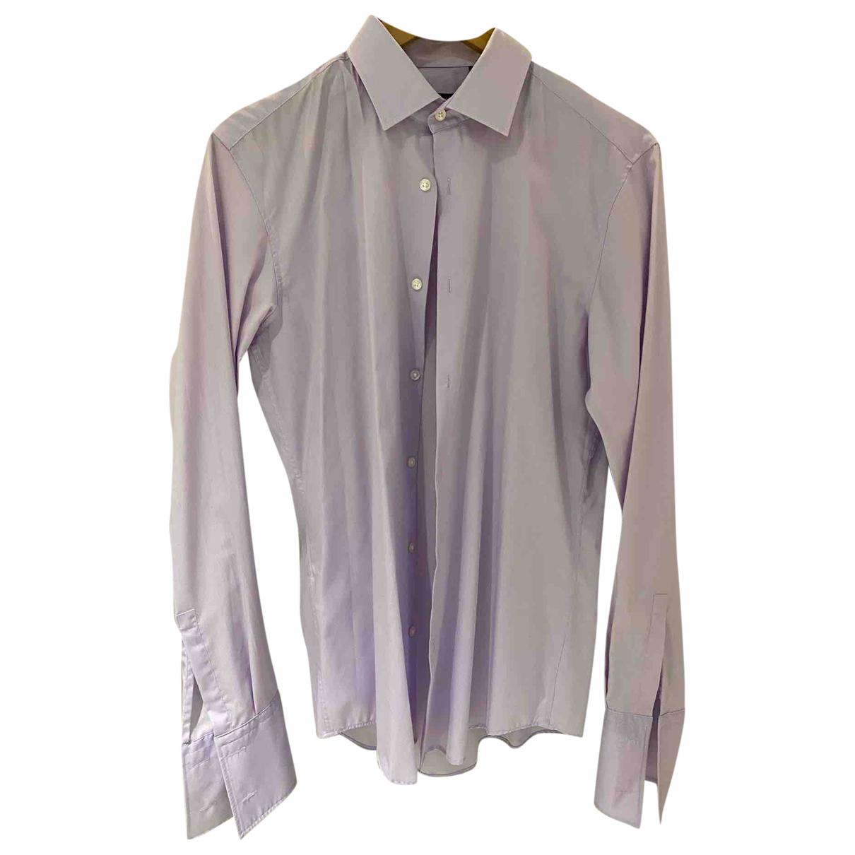 Boss N Purple Cotton Shirts for Men 39 EU (tour de cou / collar)