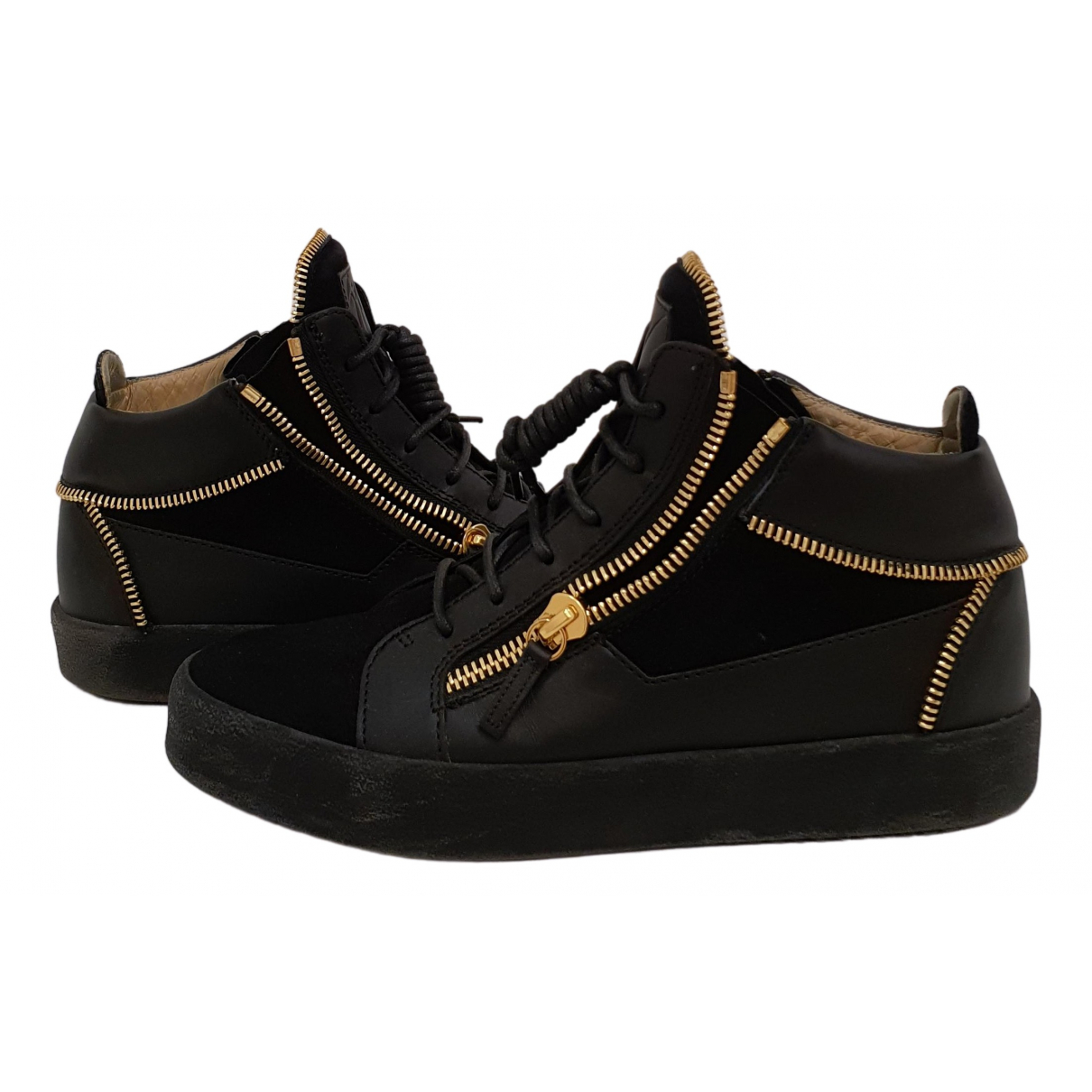 Giuseppe Zanotti \N Black Leather Trainers for Men 41 EU