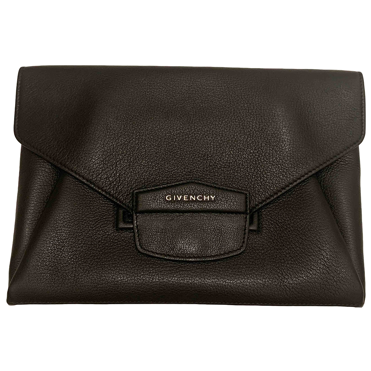 Givenchy \N Clutch in  Schwarz Leder
