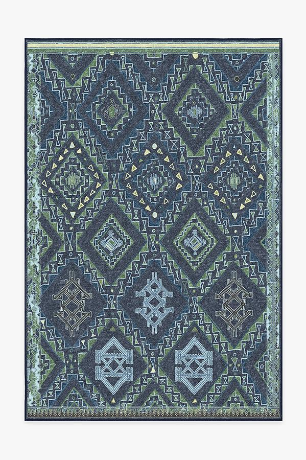 Washable Rug Cover | Lunja Midnight Rug | Stain-Resistant | Ruggable | 6'x9'
