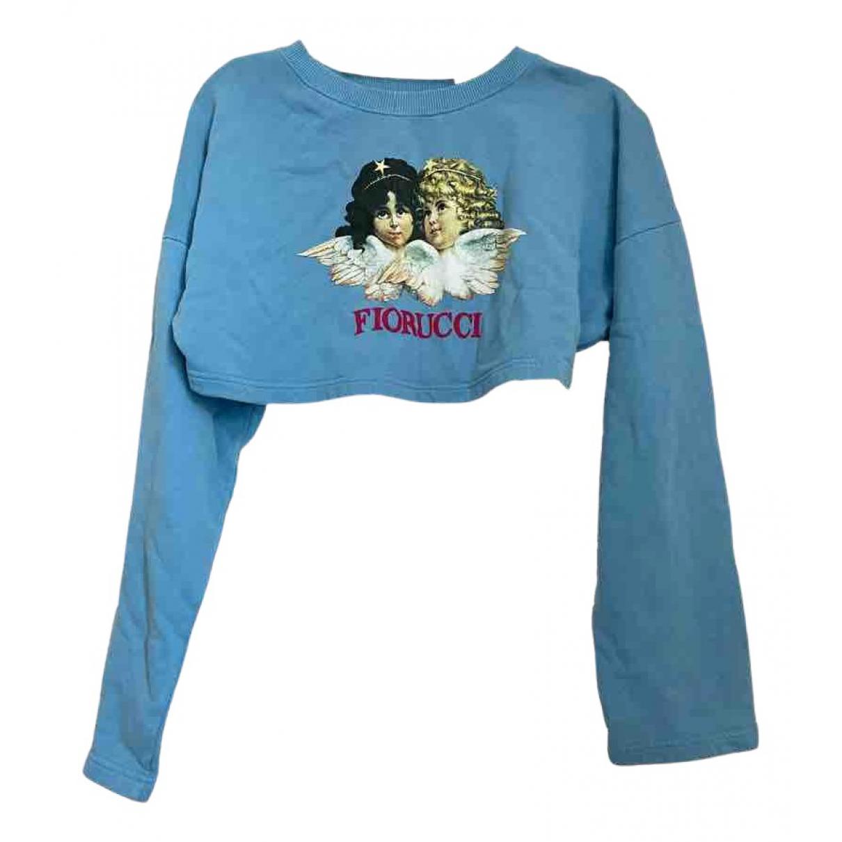 Fiorucci - Pull   pour femme en coton - bleu