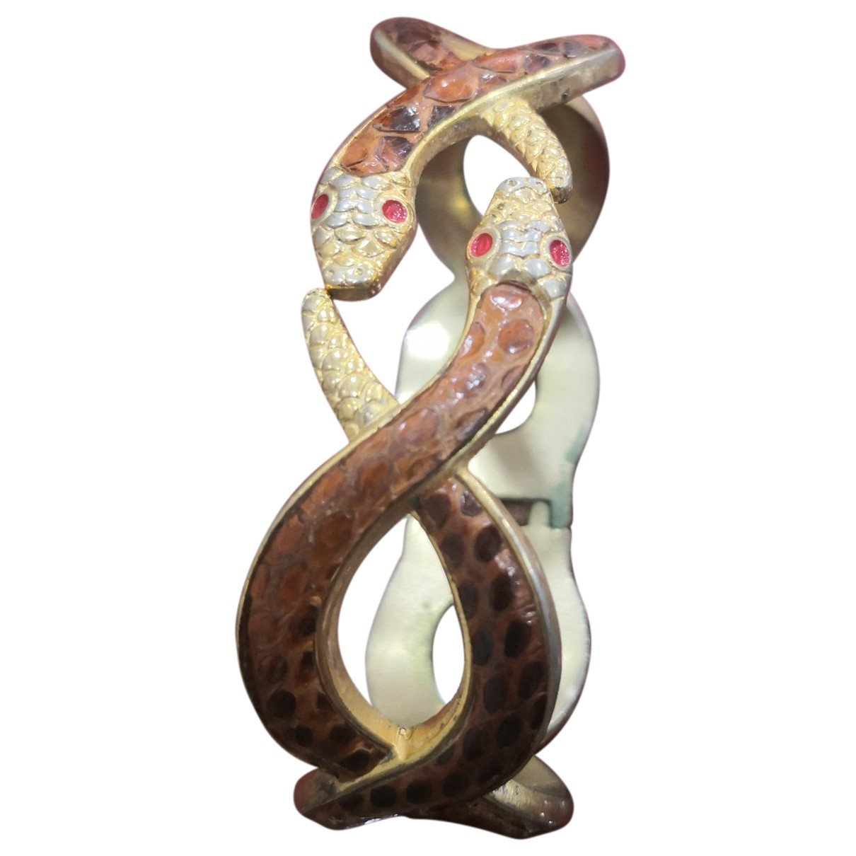 Autre Marque - Bracelet   pour femme en acier - marron