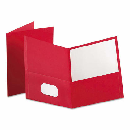 Oxford Twin Pocket Folders, Letter Size - Red, 25/Pack 240283