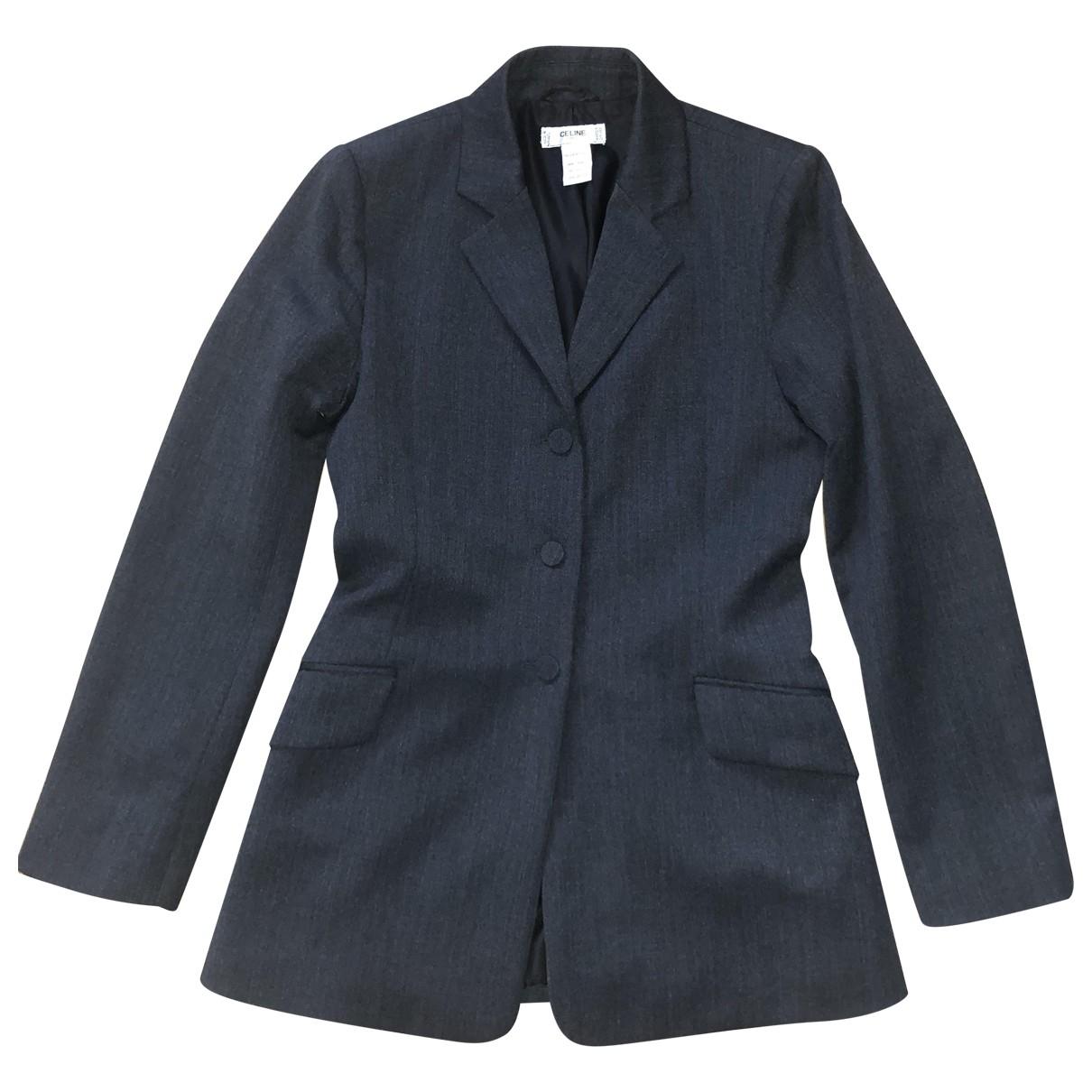 Celine \N Grey Wool jacket for Women 42 IT