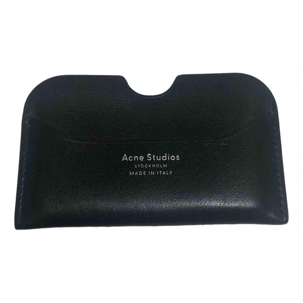 Acne Studios \N Black Leather Purses, wallet & cases for Women \N