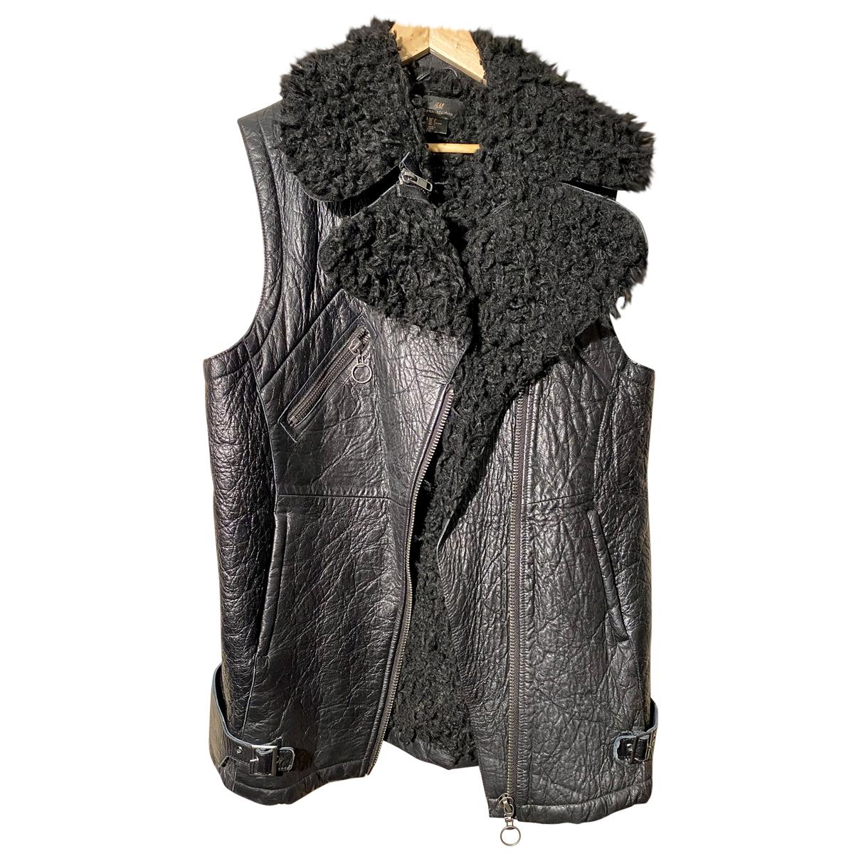 H&m Studio - Blouson   pour femme en cuir - noir