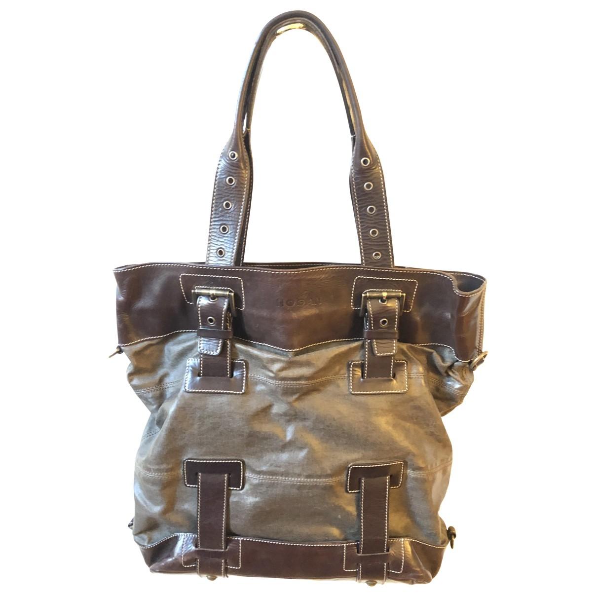 Hogan \N Handtasche in  Braun Leder