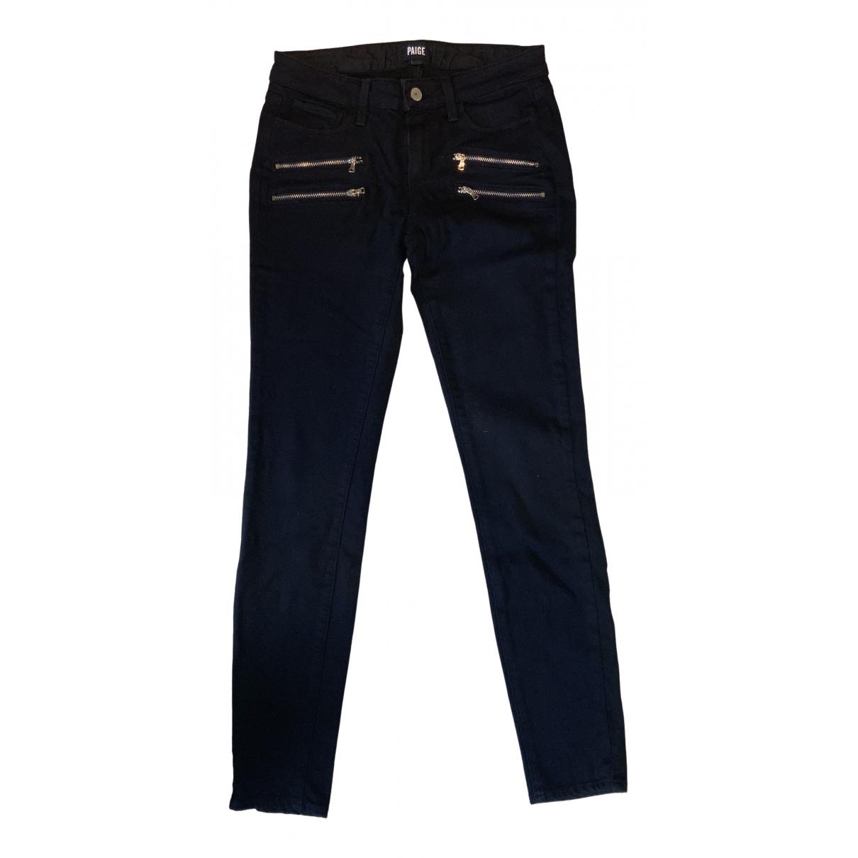 Paige Jeans N Black Cotton Jeans for Women 27 US