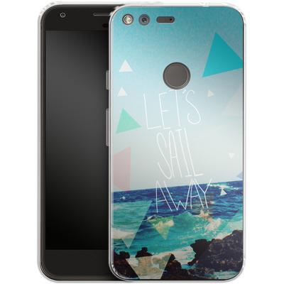 Google Pixel XL Silikon Handyhuelle - Lets Sail Away von Leah Flores