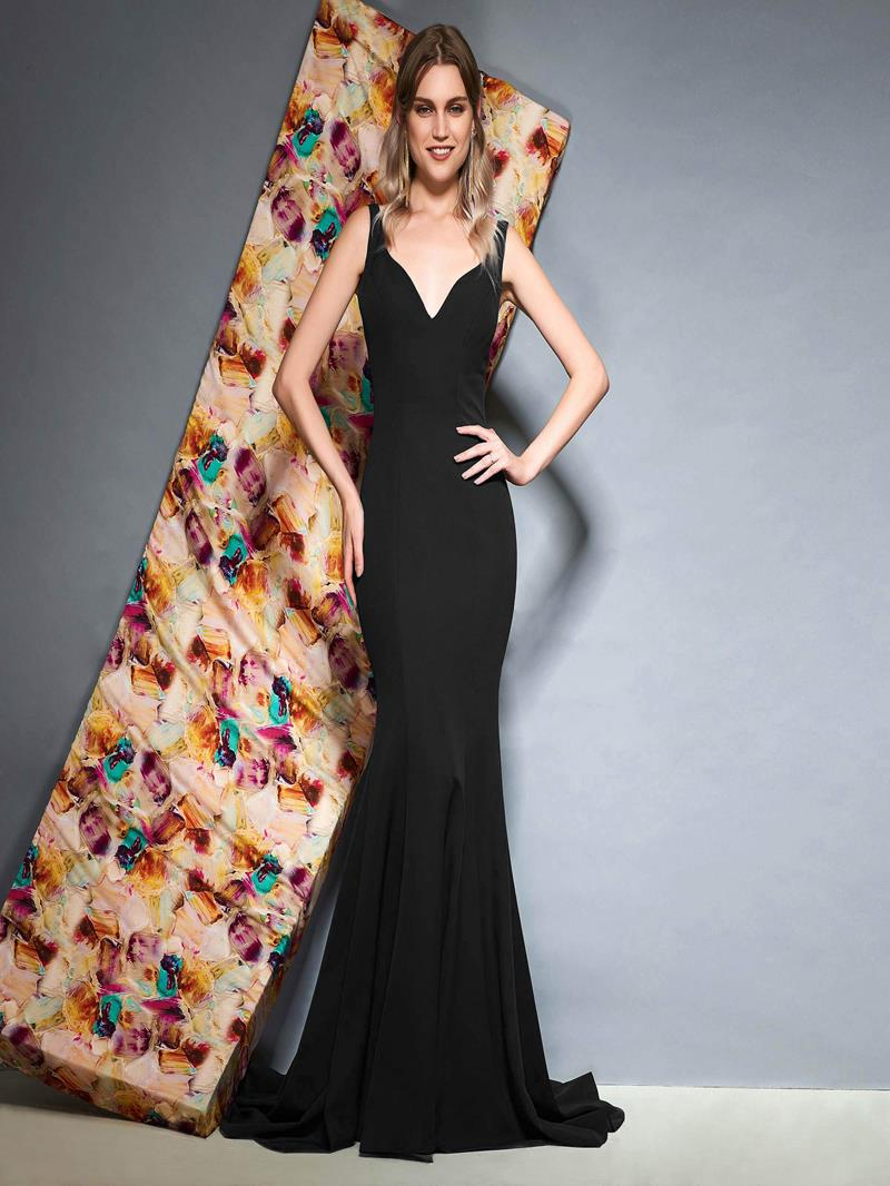 Ericdress Straps Backless Mermaid Evening Dress