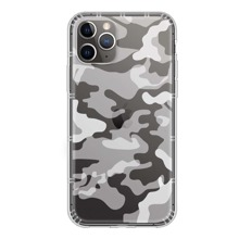 1 Stueck Transparente iPhone Huelle mit Camouflage Muster