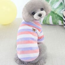1pc Dog Striped Top