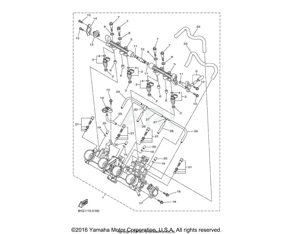Yamaha OEM 8HG-14534-00-00 COLLAR