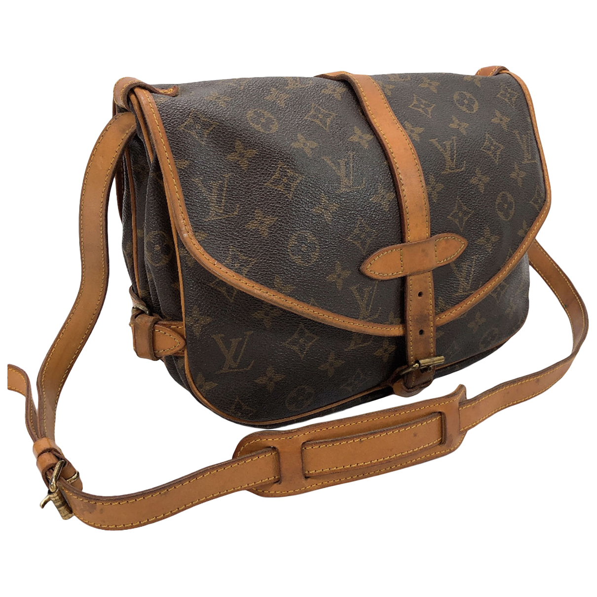 Louis Vuitton Saumur Brown Cloth handbag for Women N