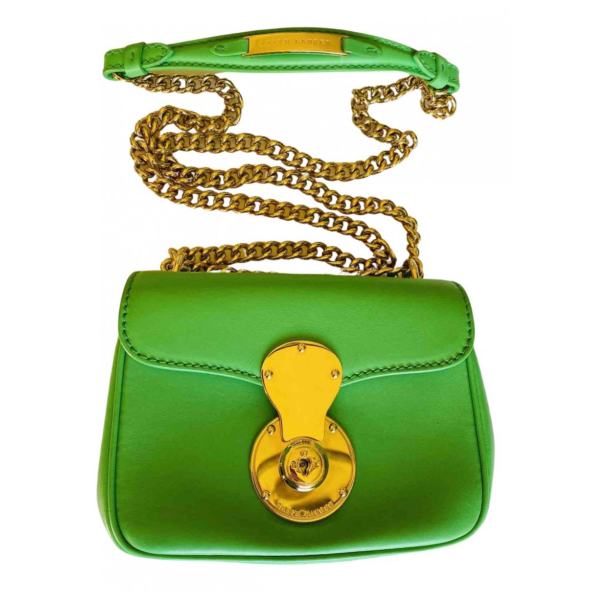 Ralph Lauren - Sac a main   pour femme en cuir - vert
