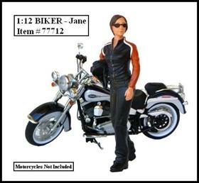 Biker Jane Figure  For 112 Models by American Diorama