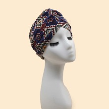 Geometric Pattern Turban Hat