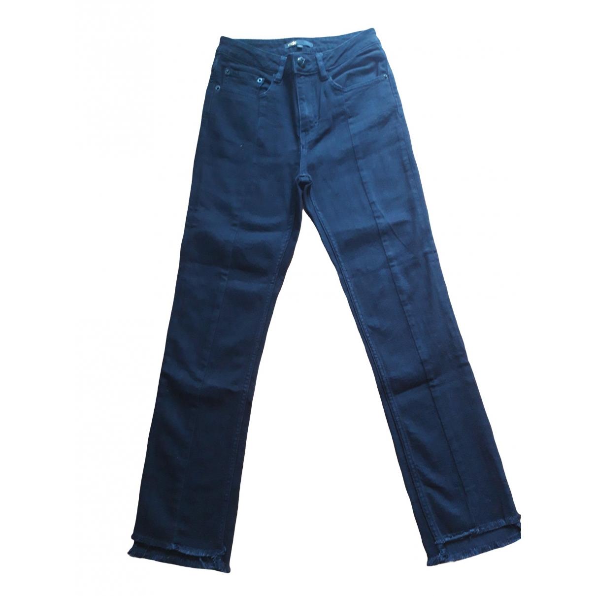 Maje Fall Winter 2019 Black Denim - Jeans Trousers for Women 34 FR