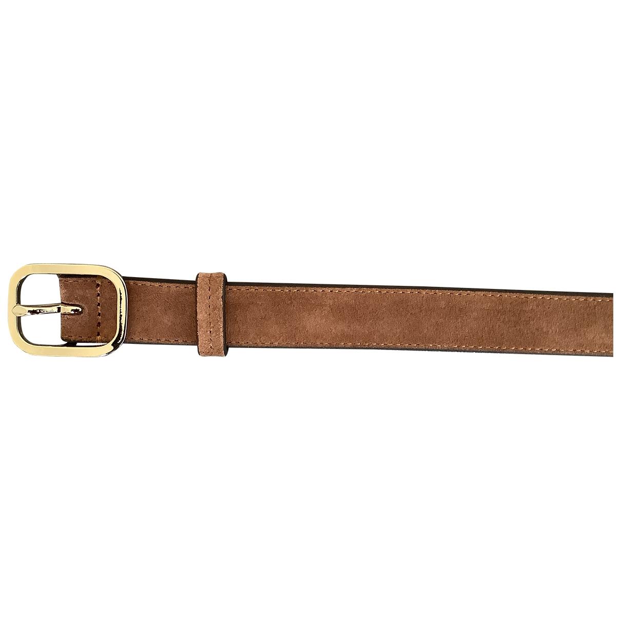 Boss \N Camel Suede belt for Women 75 cm