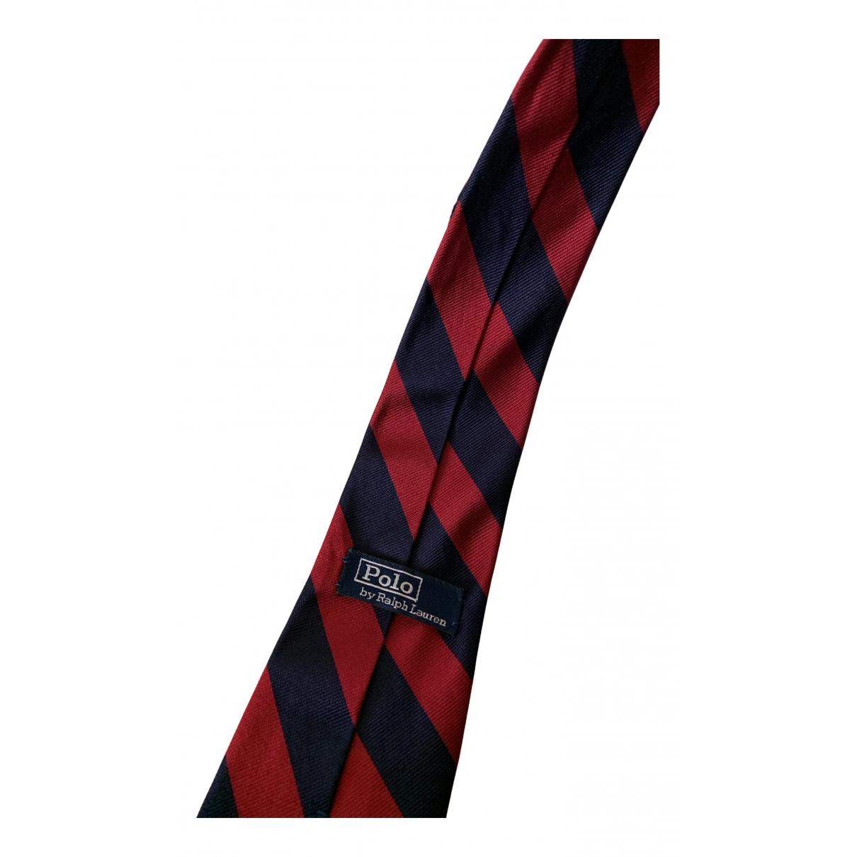 Polo Ralph Lauren - Cravates   pour homme en soie - rouge