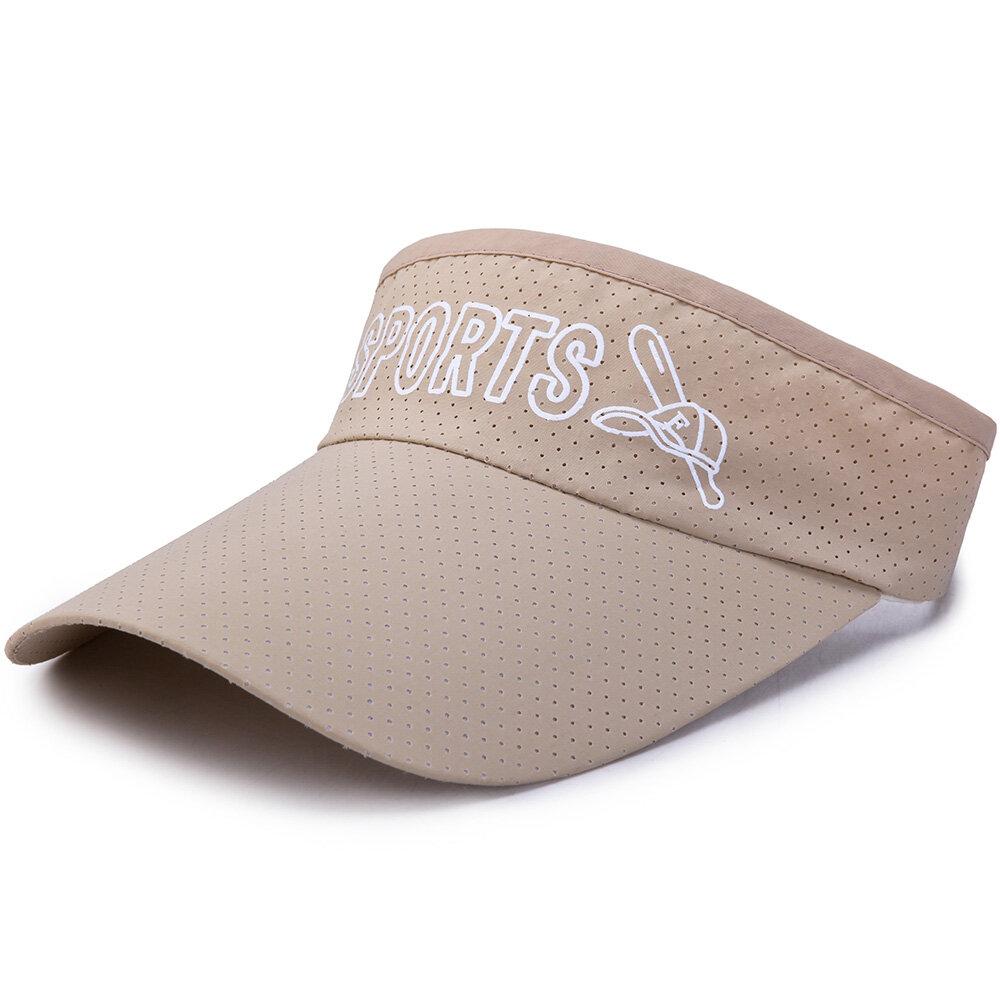 Men Women Empty Top Wide Brim Quick-Drying Adjustable Mesh Pattern Casual Beret Cap