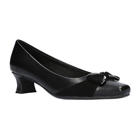 Easy Street Womens Rejoice Pumps Spike Heel, 9 Medium, Black