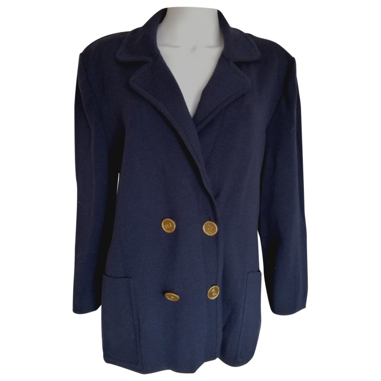 Yves Saint Laurent \N Navy Wool jacket for Women L International
