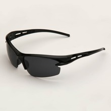 Men Half Frame Sunglasses With Case
