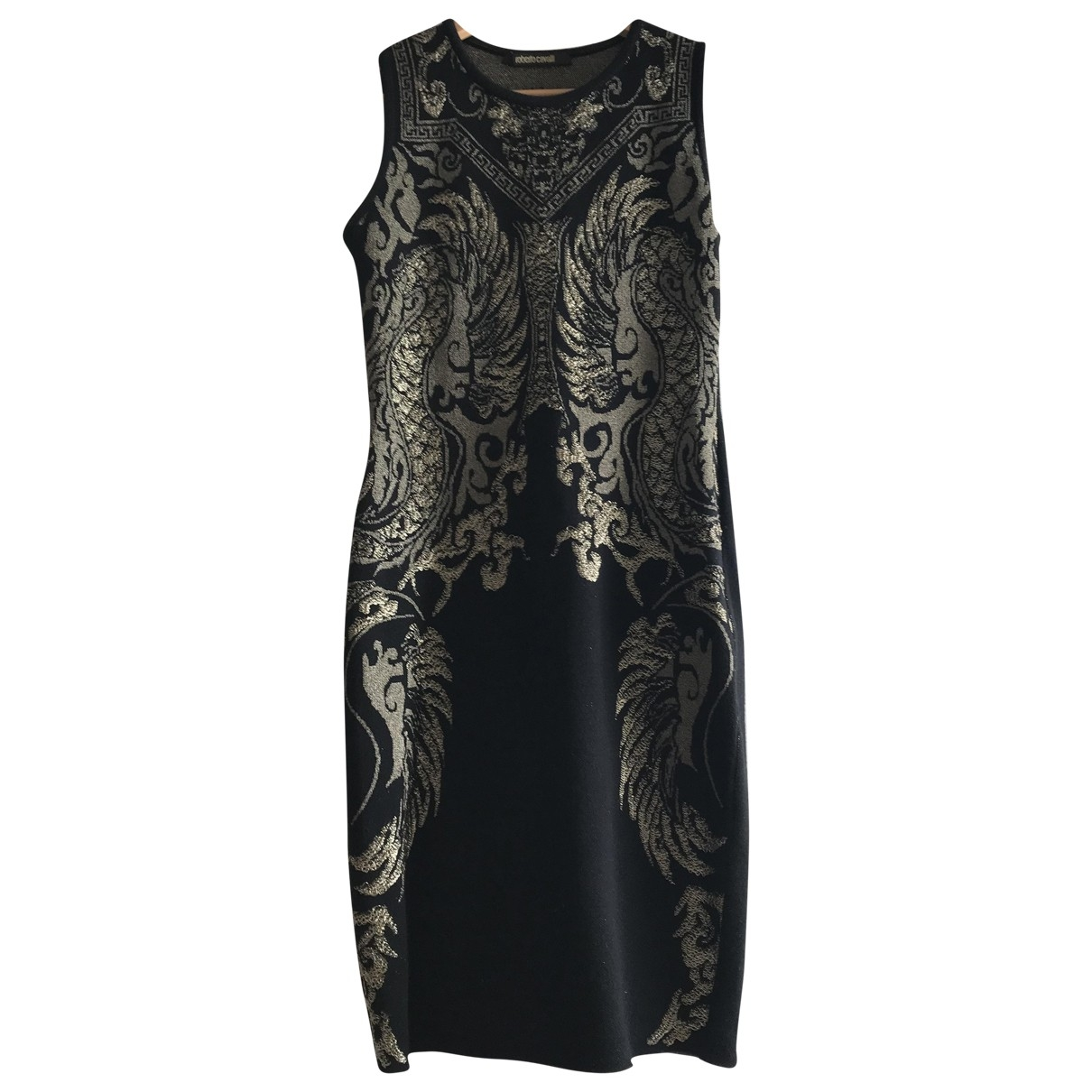 Roberto Cavalli \N Kleid in  Schwarz Wolle