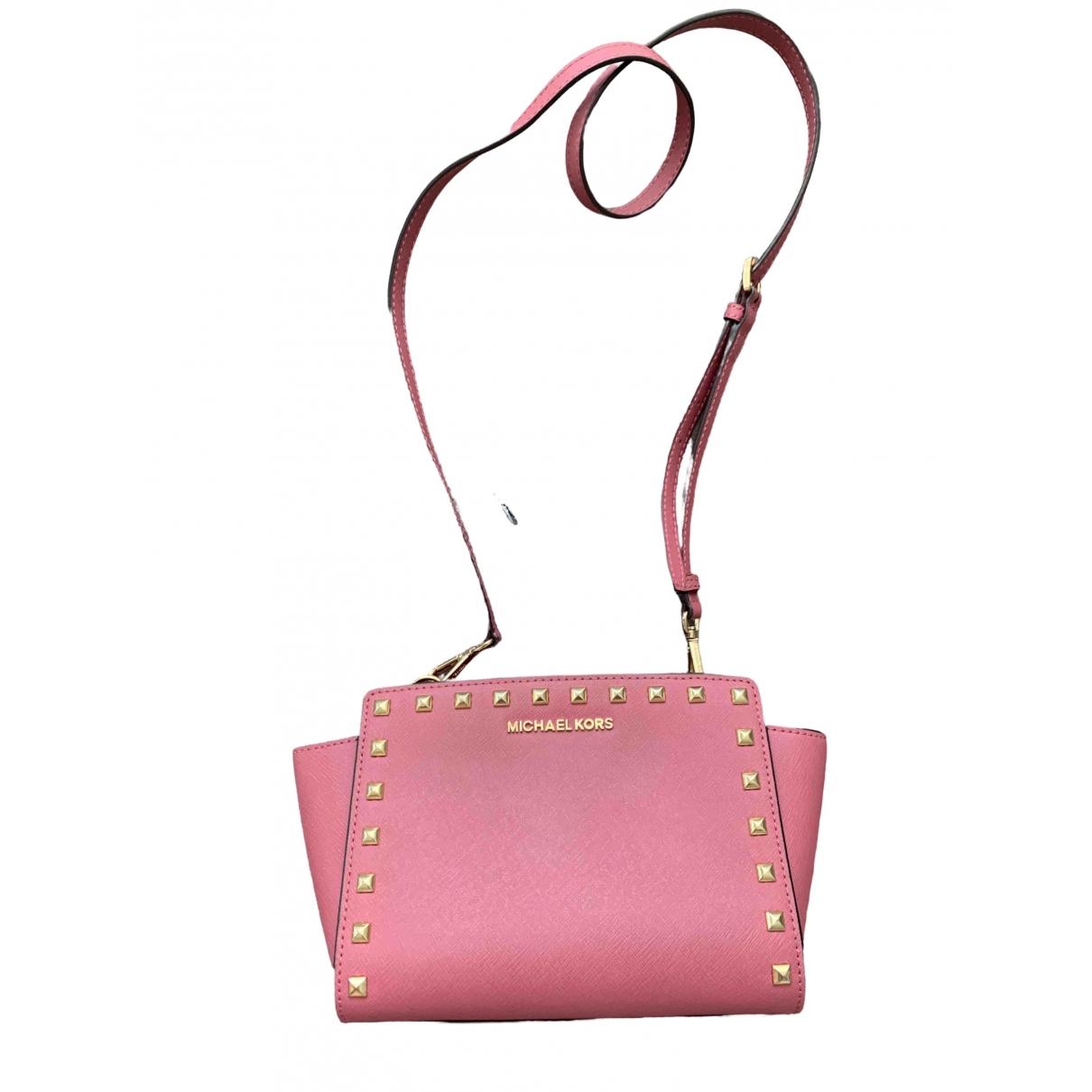 Michael Kors - Pochette   pour femme en cuir - rose