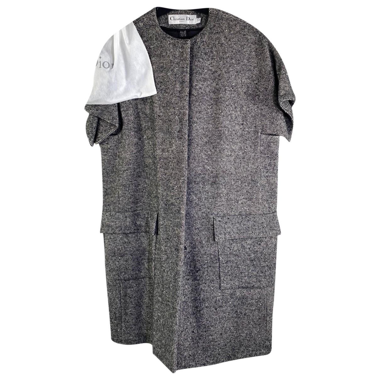 Dior \N Maentel in  Grau Wolle