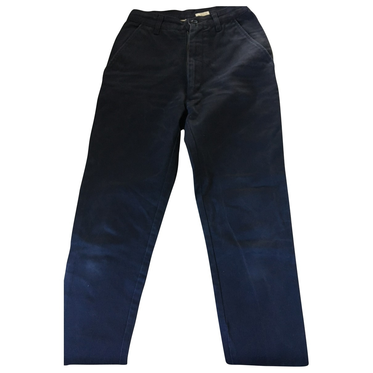 Calvin Klein \N Blue Cotton Trousers for Women XS International