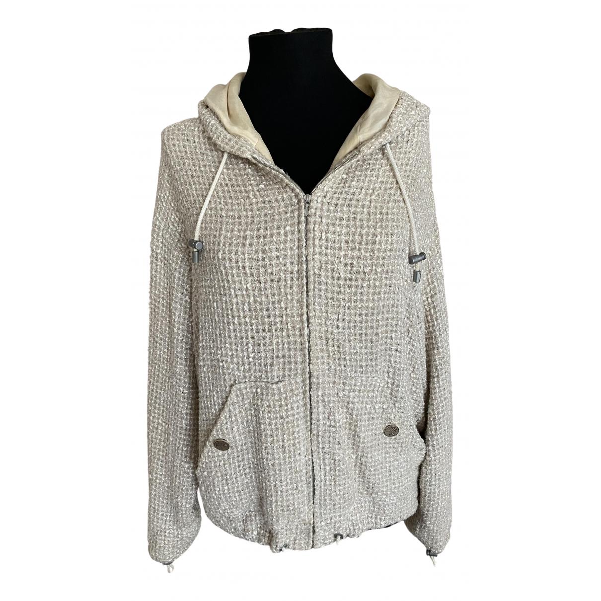 Chanel - Veste   pour femme en tweed - beige